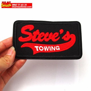 Patch ủi sticker vải - Steve's Towing
