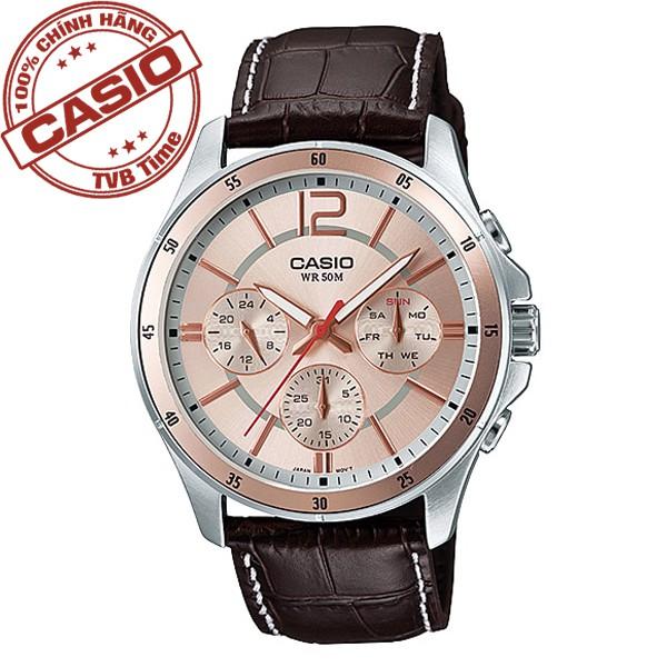 [Mã WTCHMALLTET hoàn 100k xu đơn 499K] Đồng hồ nam dây da Casio Standard Anh Khuê MTP-1374L-9AVDF