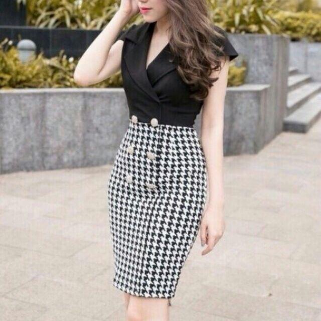 Vest kết hợp váy