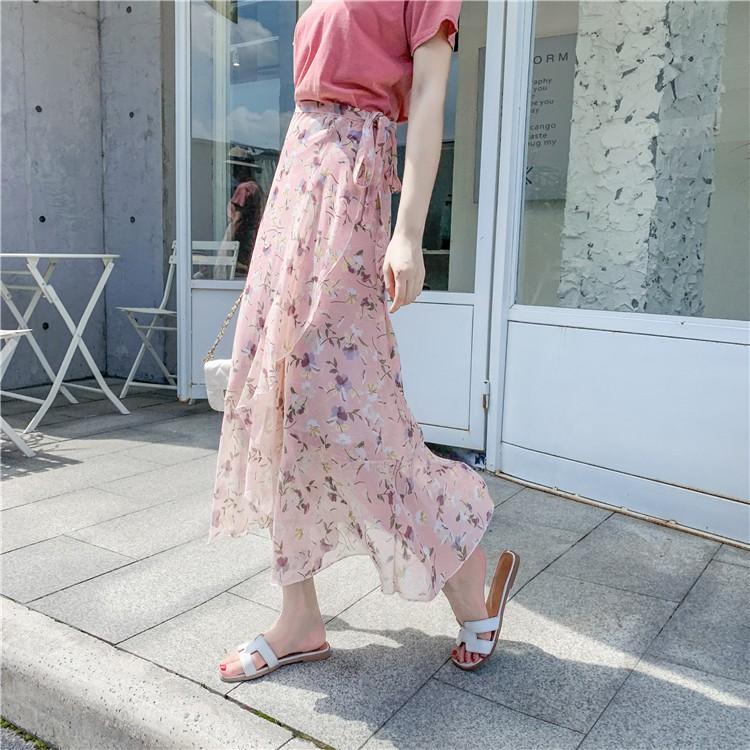 Chân Váy Dài In Hoa Thời Trang Nữ Tính