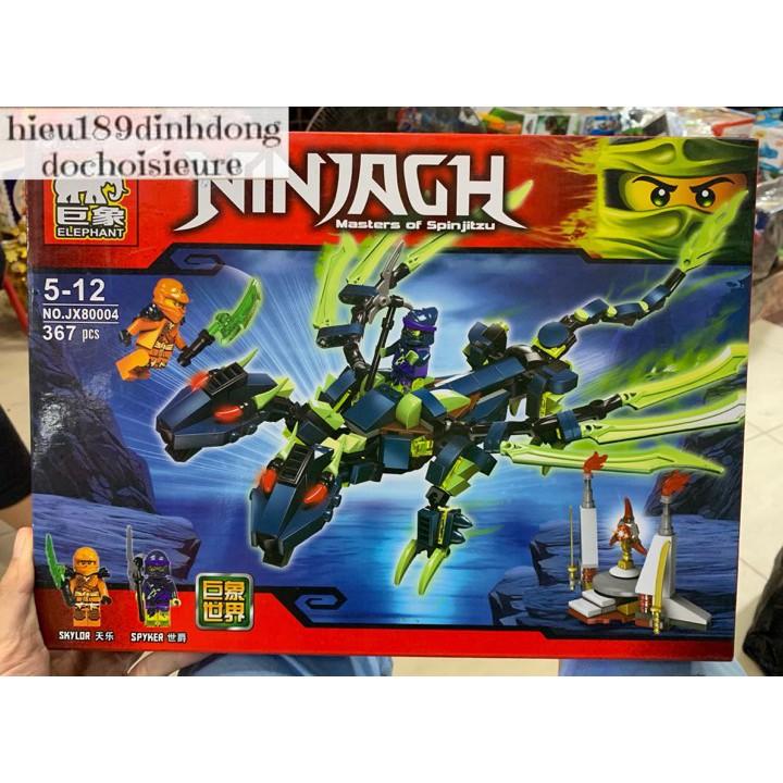 Lắp ráp xếp hình Lego Ninjago jx80004 : Rồng ma 2 đầu 367 mảnh