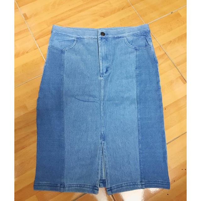 Chân váy Jeans xuất Hàn dư