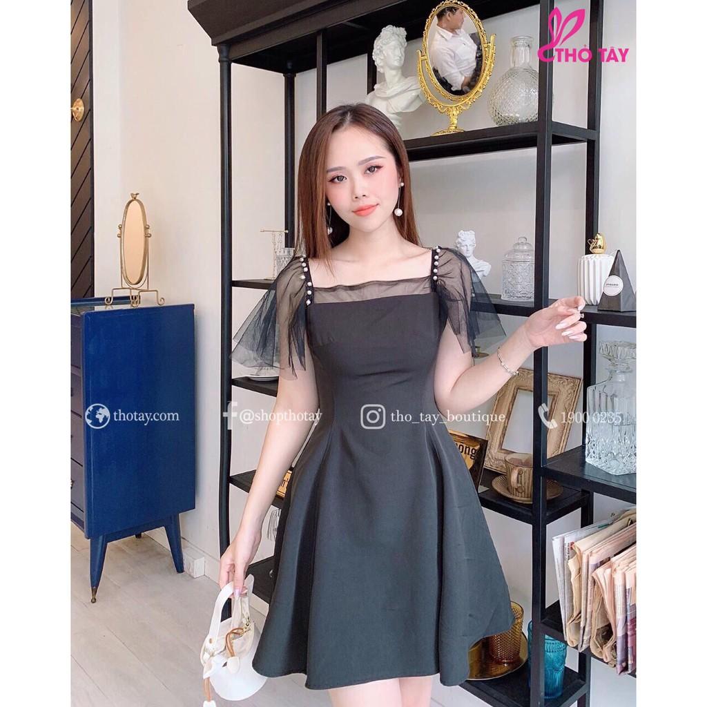 Đầm Thiết kế Phối ren, đầm thiết kế đẹp, Đầm Nữ sang chảnh_Váy xinh Vintage_0289