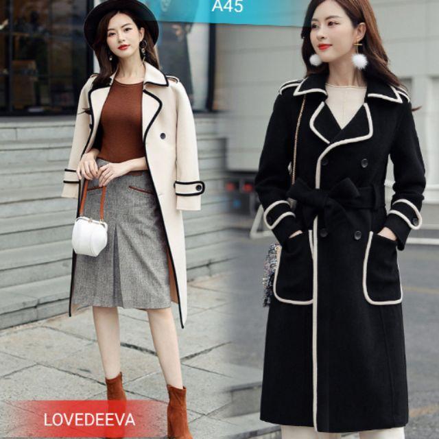 Áo khoác dáng dài phong cách hàn quốc