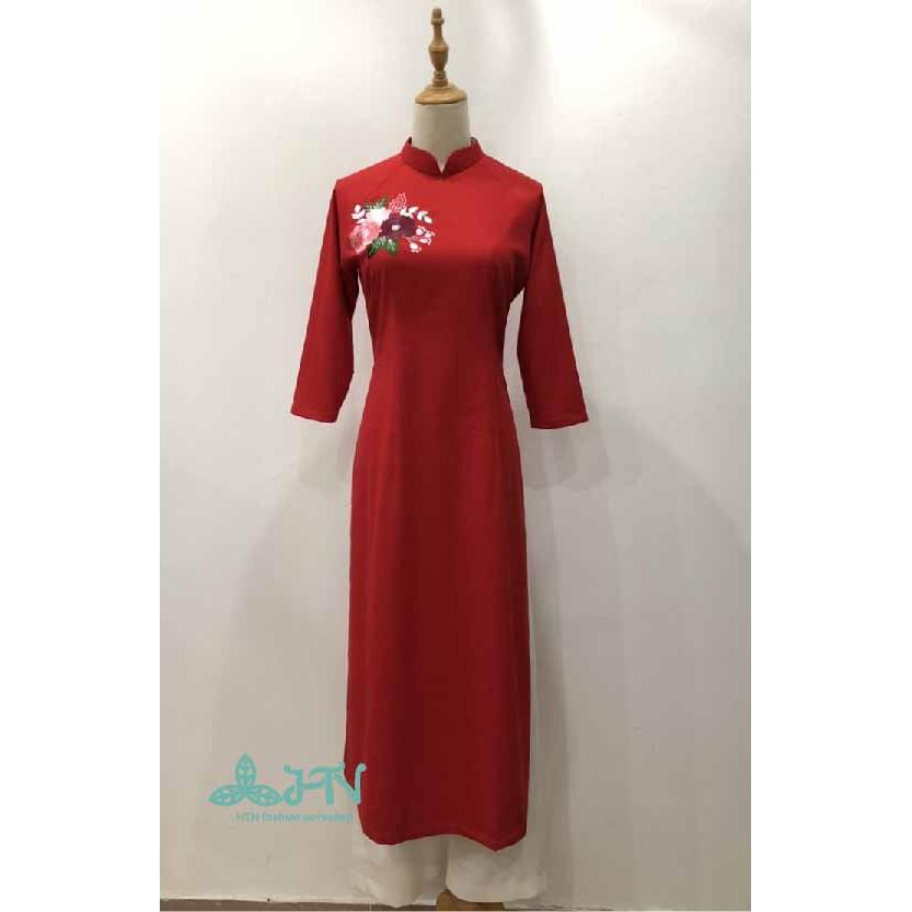 Bộ áo dài cách tân nữ chất linen cao cấp