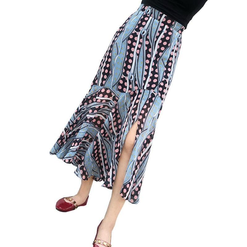 Chân Váy Voan Chữ A Với Họa Tiết Chấm Bi Xinh Xắn Dành Cho Nữ 2020