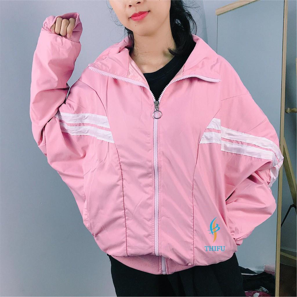 Áo khoác dù nữ đẹp phối sọc,áo khoác mùa đông nữ