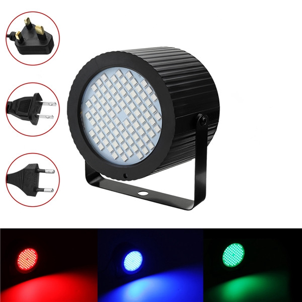 HULUNBEIER 88 LED RGB Sound Control Dimmable Stage Light Laser Projector Lamp