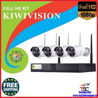Bộ Camera KIWIVISION NVR4200 Wifi NVR Kit 4 Mắt Camera 2.0M Full HD 1080P