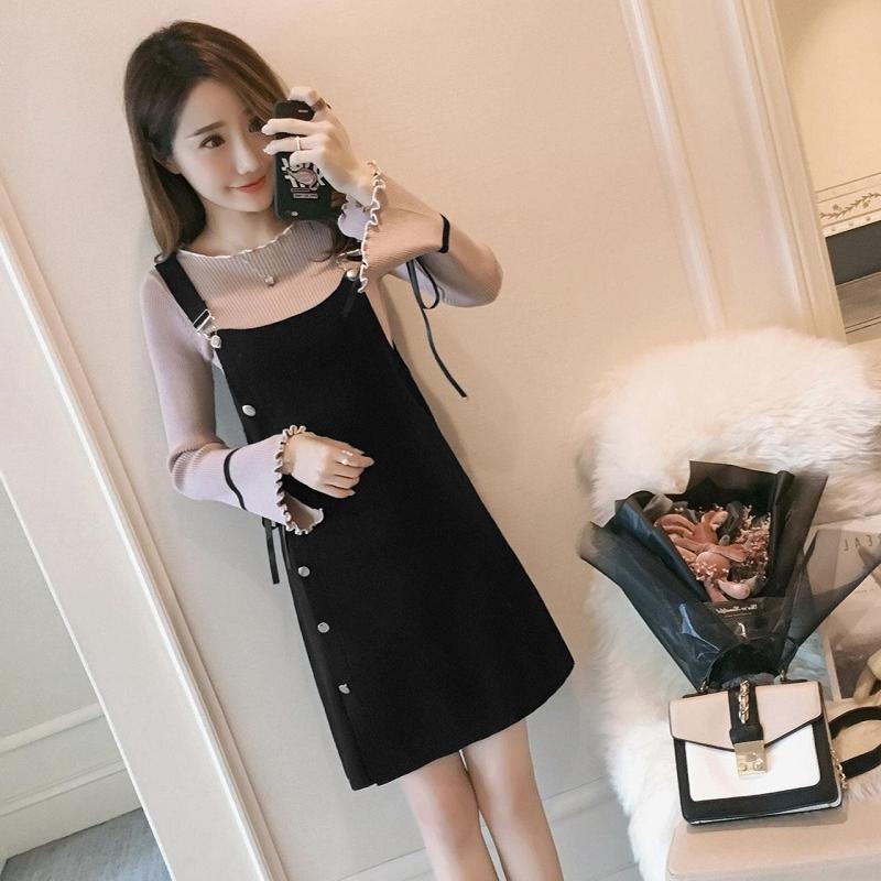 Set Áo Len Tay Loe + Chân Váy Thời Trang Dành Cho Nữ