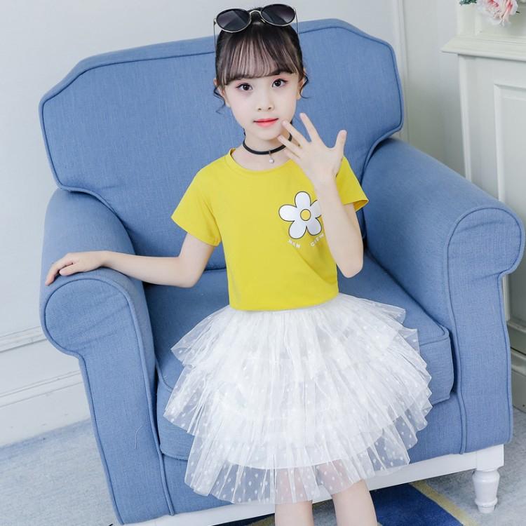 Bộ Áo Thun + Chân Váy Xinh Xắn Dành Cho Bé 2020