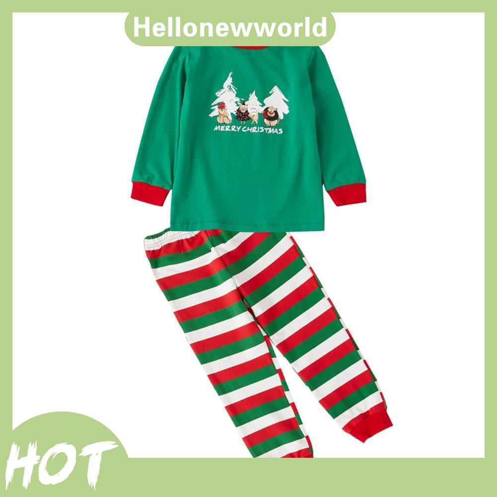 Set áo thun tay dài + quần dài hoạ tiết cây hoạt hình cho mẹ và bé