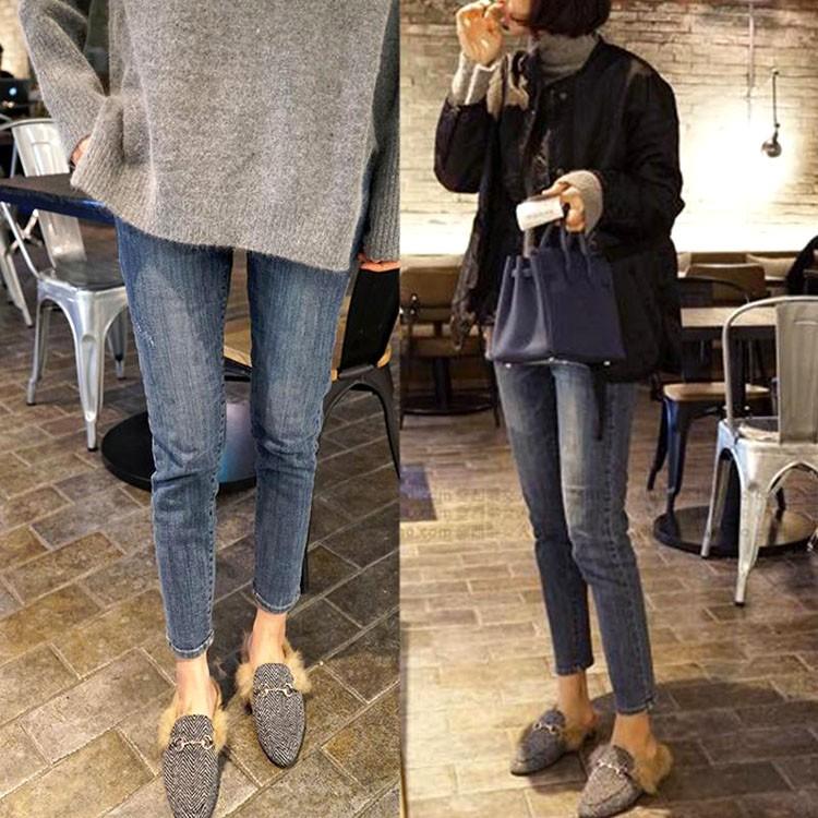 Quần Jeans Ôm Thời Trang