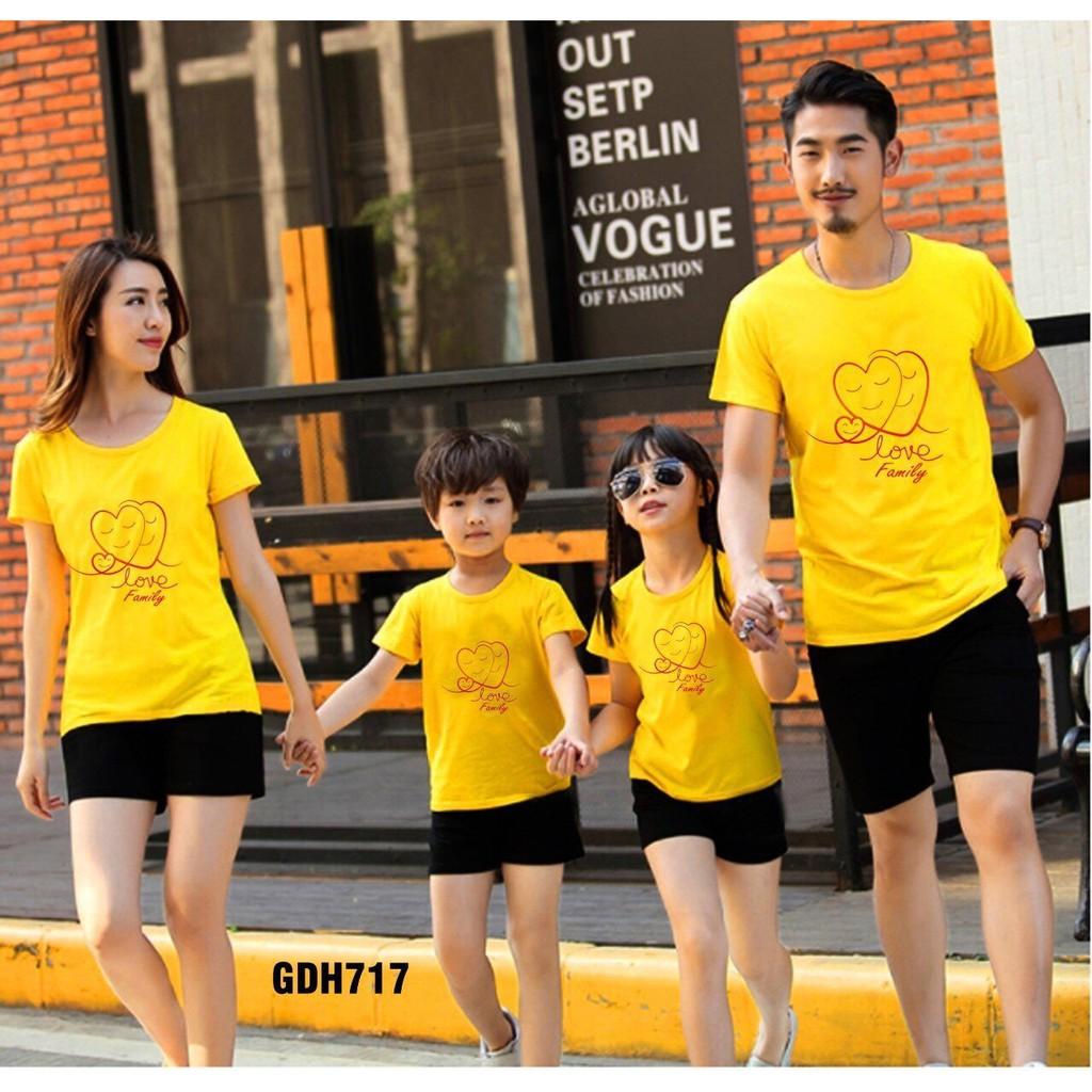 Combo 4 bộ đồ gia đình xinh