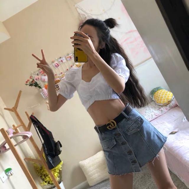 FAIRY SHOP-Chân váy jean, short giả chân váy