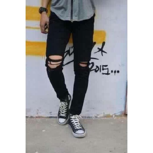 quần jean rách gối kiểu ( mã 133)
