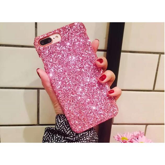 Ốp lưng iPhone 5 5s 6 6s 6 Plus 6s Plus 7 7 Plus 8 8 Plus X nhũ kim tuyến vàng đẹp