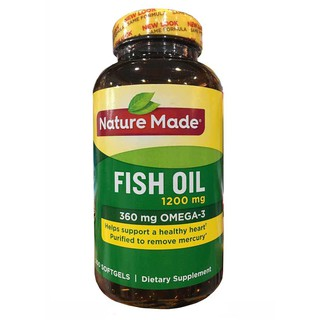 Dầu cá Omega 3 Nature Made Fish oil 1200mg hộp 200