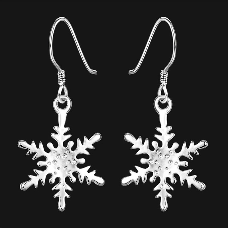 New Beautiful Fashion Jewelry Earring Snowflake Drop Dangle Hook Earrings For Women Gift