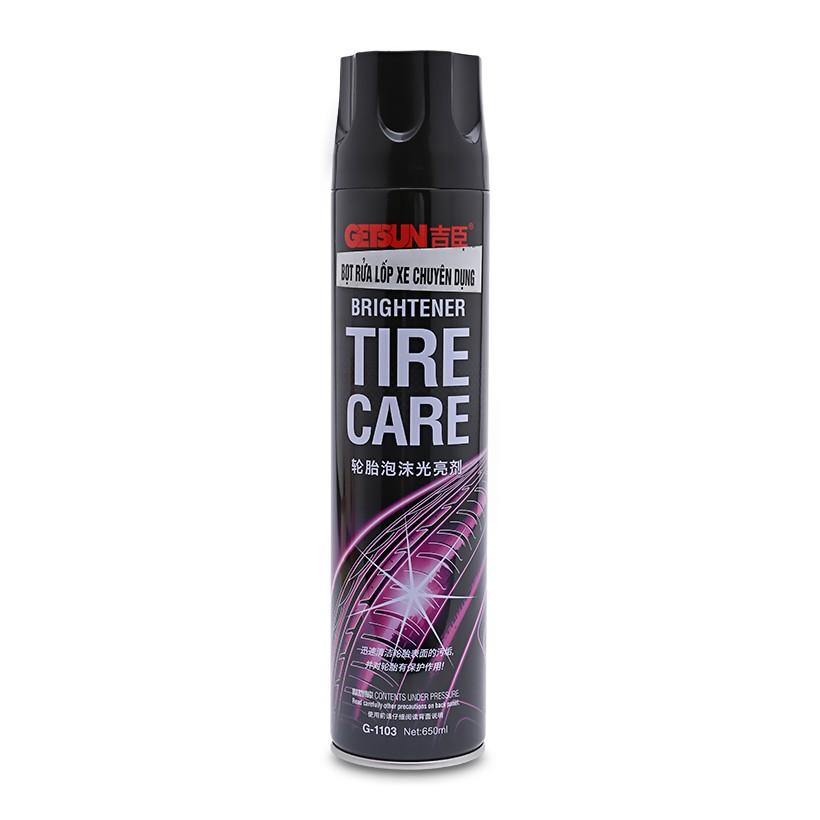 Chai xịt bọt rửa lốp xe chuyên dụng GETSUN 650ml