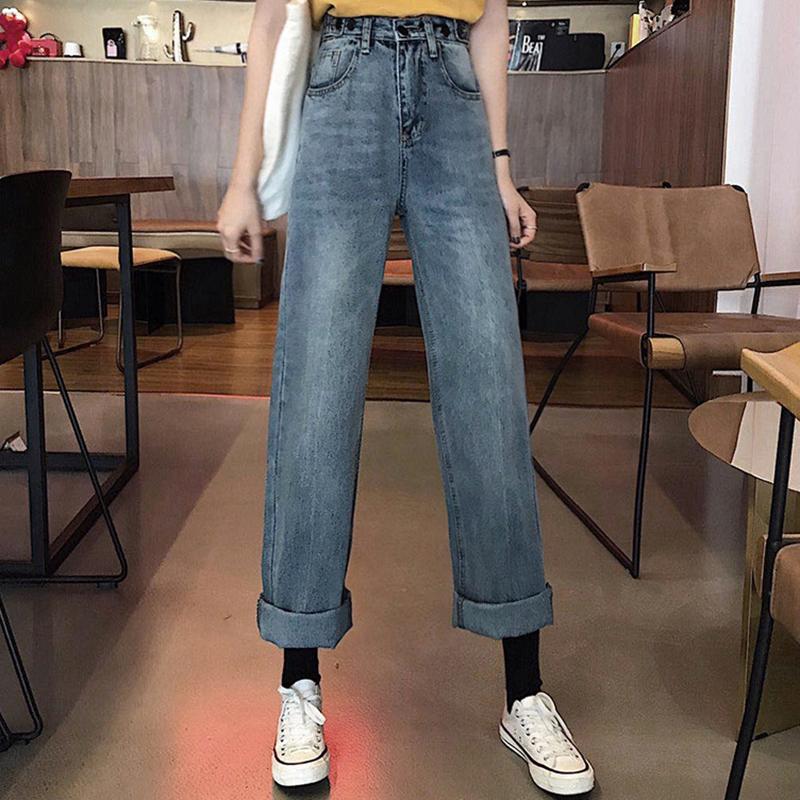 Quần Jeans Phong Cách Retro Thời Trang Cho Nữ