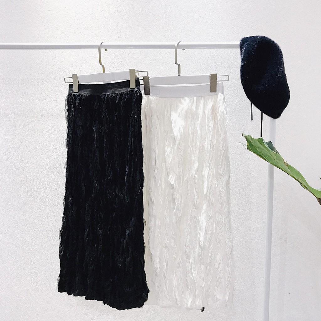 STARROOM Chân váy dài ruffle CVD011930