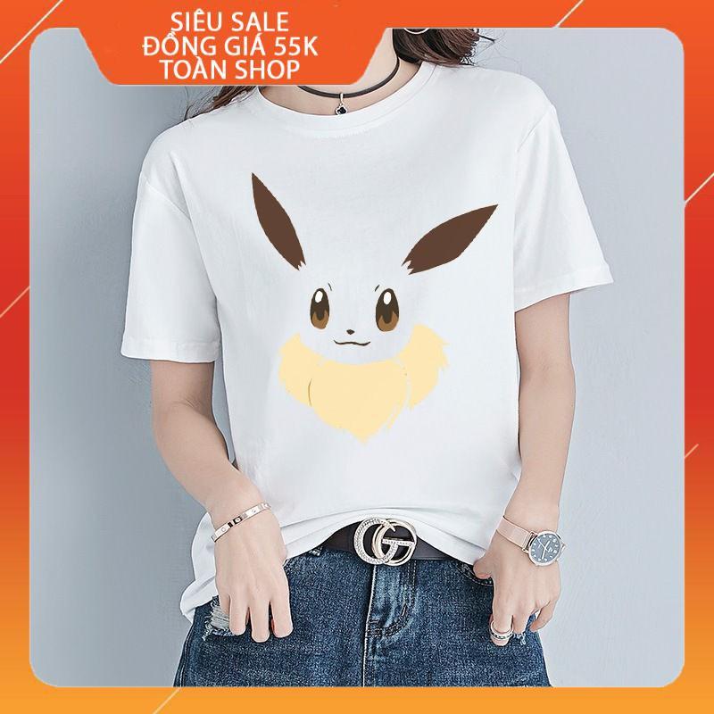 [GIẢM SẬP SÀN][SIÊU SALE][ĐỒNG GIÁ 55K TOÀN SHOP] Áo thun nam nữ in đôi mắt pokemon, đôi mắt anime, áo thun pokemon-006