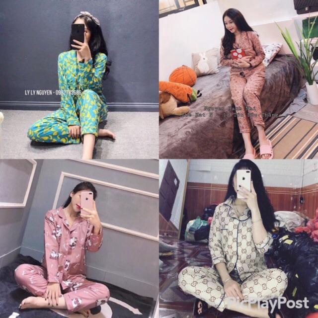 [Mã WARN10 giảm 10K đơn 99K] Bộ ngủ pijama tay dài quần dài