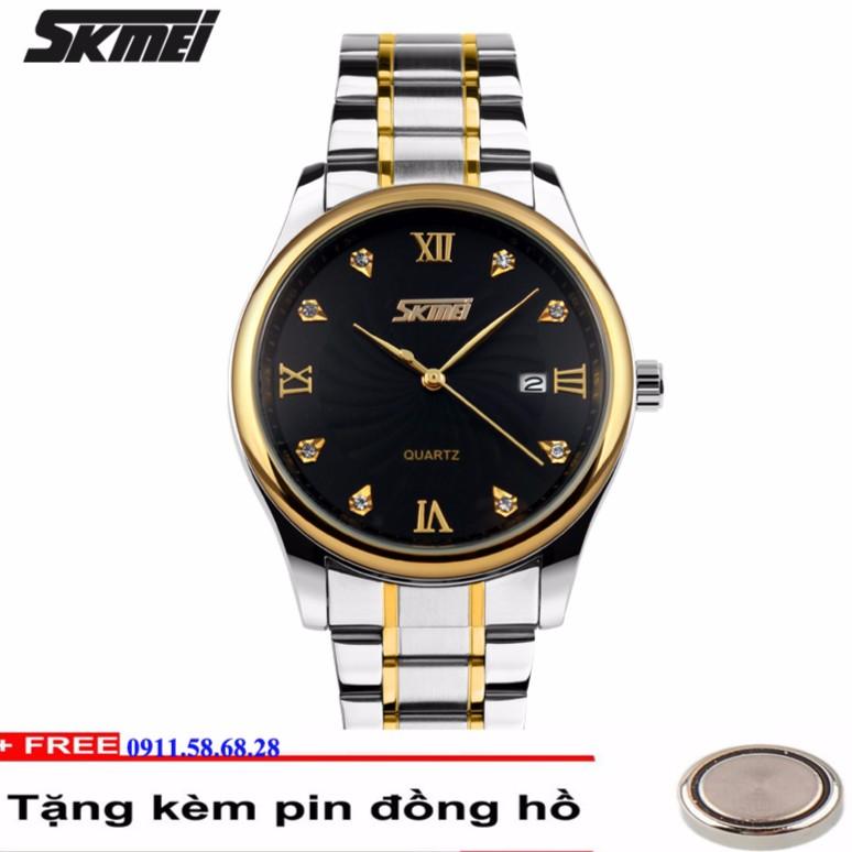 [Mã WTCHJAN giảm 20K ] Đồng hồ nam dây thép dermi không gỉ SKMEI 9101 mã S02