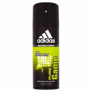 Xịt khử mùi nam ADIDAS Deo Body Spray 24H Fresh Power 150ml #Pure Game