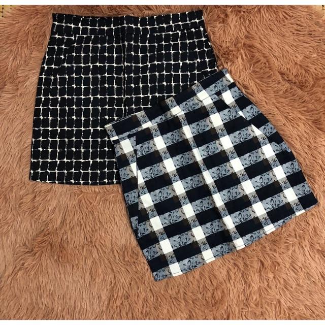 Chân váy ngắn kèm quần bên trong