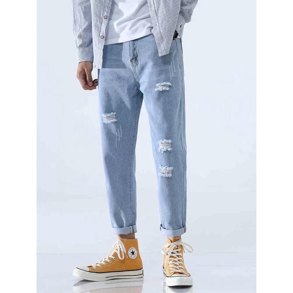 Quần jeans dáng rộng phong cách hiphop đường phố cá tính cho nam