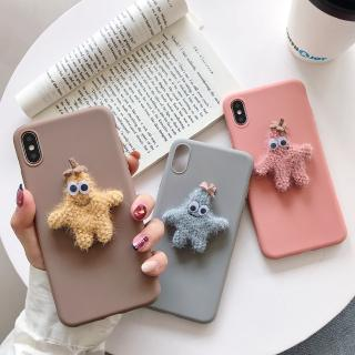 Cartoon Plush 3D Smile starfish Case For Samsung J7Pro J7Prime J4 A8 A6 2018 A9 A6Plus J8 J6Plus J4Plus