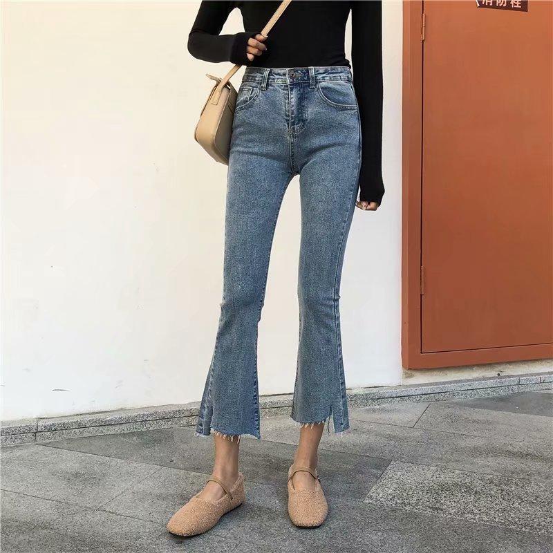 Quần jean dài phong cách Hàn Quốc size S-5XL cho nữ