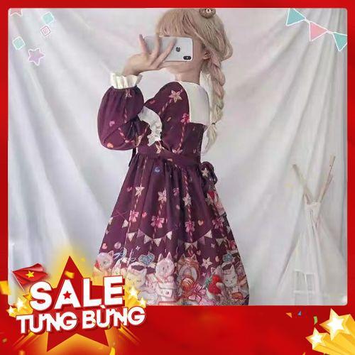 Váy đầm Lolita cổ bẻ siêu cute -Hàng nhập khẩu