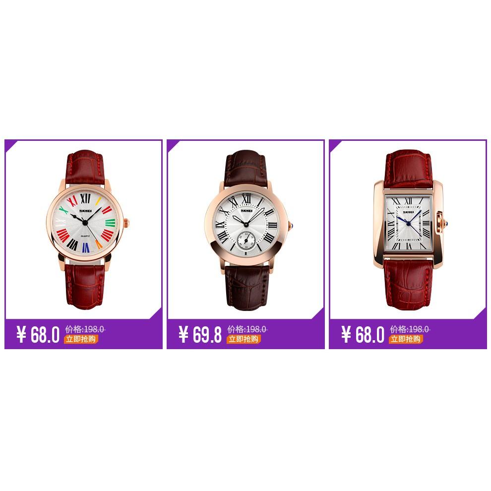 FOLLOWSHOP 9K 20H 18/12 Đồng hồ Skmei Mặt Chữ Nhật cho nữ
