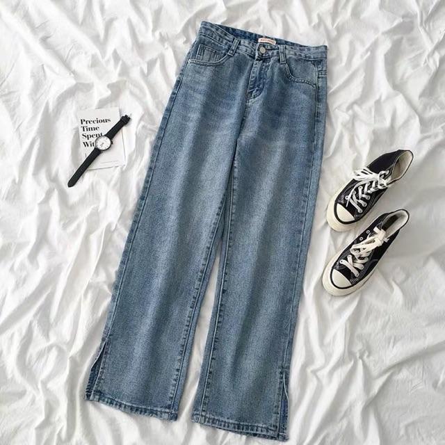Order quần jeans ống xẻ