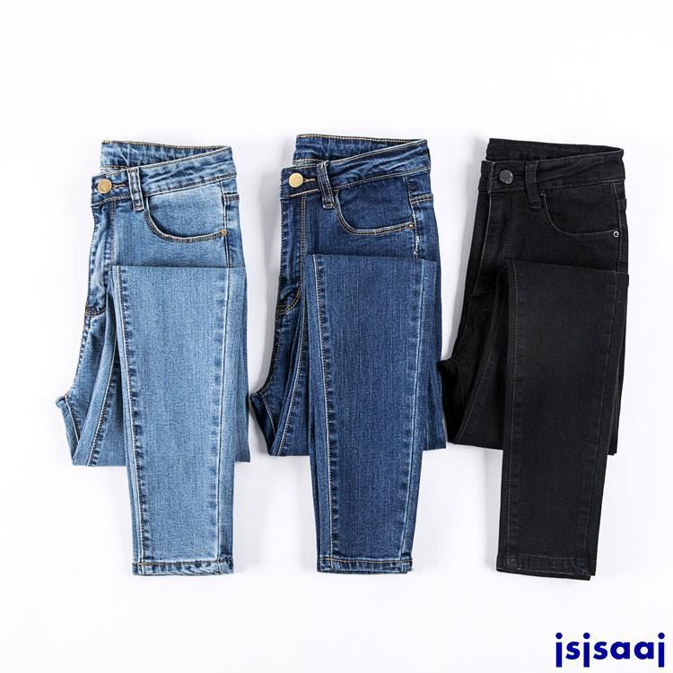 Quần Jean Skinny Lưng Cao Với Chất Liệu Co Dãn Thoải Mái Dành Cho Nữ