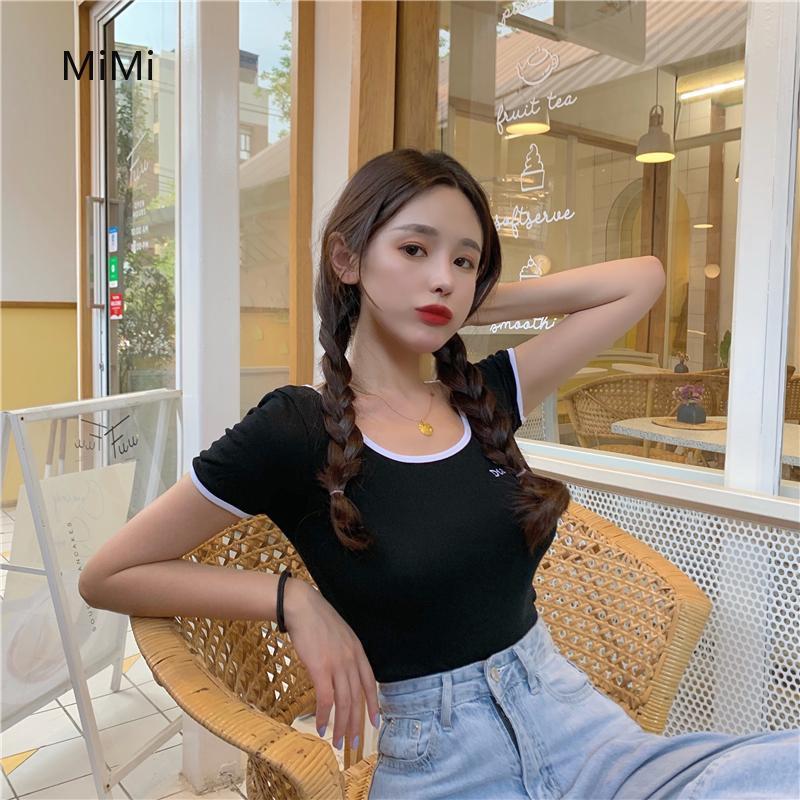 Áo thun nữ ngắn tay kiểu Hàn Quốc