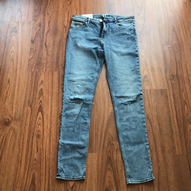 Quần jean skinny nữ H&M rách gối chính hãng