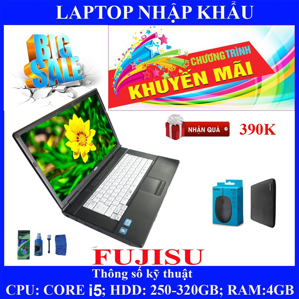 Laptop chơi game fifa 4, pubg mobile,  Core i5, RAM 4G, 250gb #1