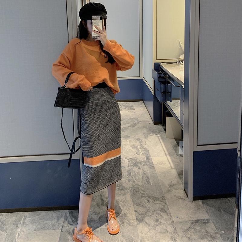 Bộ Áo Dệt Kim + Chân Váy Thời Trang Xinh Xắn Cho Nữ 2019