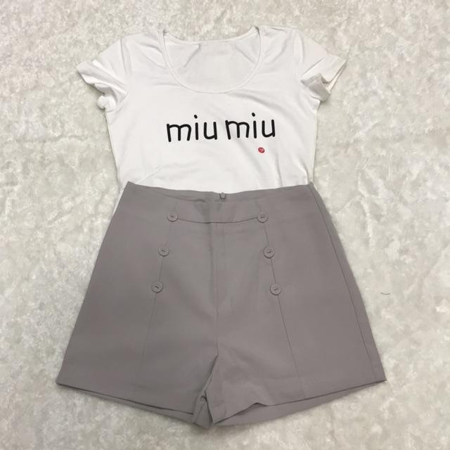 Set áo thun quần sọt quảng châu sz M