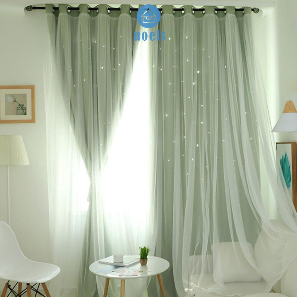 Hollowed Out Star Shading Window Curtain Drapes Purdah for Home Living RoomnoelHome living