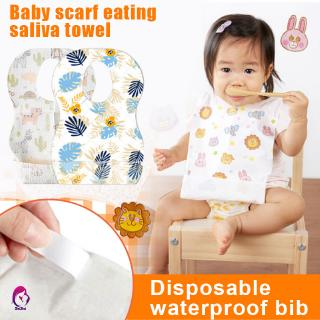 Hình ảnh 【Hàng mới về】 10/20pcs Infant Waterproof Disposable Bibs Portable Travel Outdoor Home Baby Bib