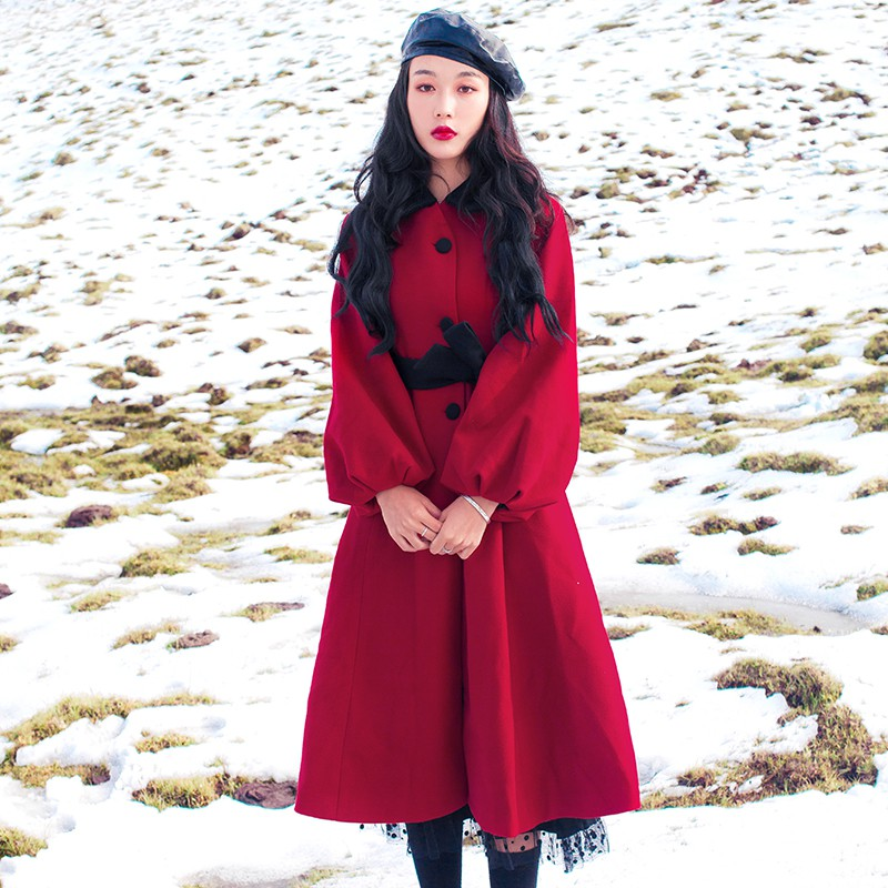 Chân Váy Voan Phối Ren Dáng Dài Màu Đỏ Rượu Vang Sang Trọng Trẻ Trung Cho Bạn Gái
