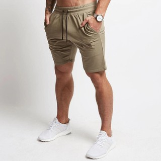 Hình ảnh Slim Brand Calf-Length Fitness Bodybuilding Gyms Jogger Workout Beach Sportswear Men Casual Shorts Short Pants