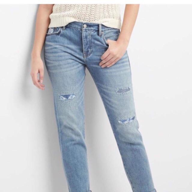 Quần bò nữ Gap _ Quần jeans nữ dáng boyfriend