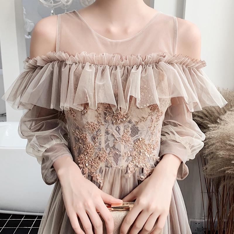 Váy phù dâu cổ tích khí chất nữ 2020 mùa xuân bạn gái mới ăn mặc chị em đầu tiệc cưới đầm dạ hội đã mỏng