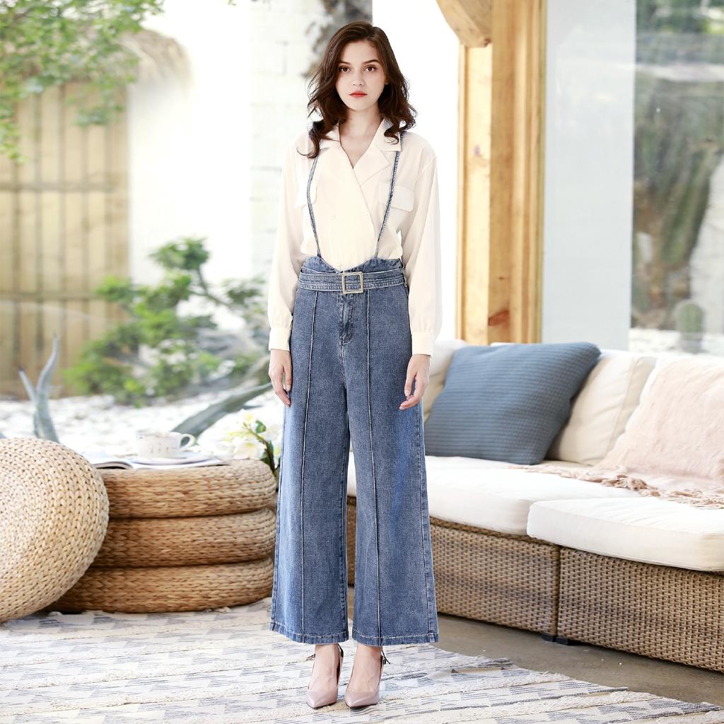 quần yếm jeans thời trang dành cho nữ